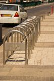 Organization of bicycle parking in the city stock photography