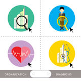 Organization and business diagnosis. People organization and business diagnosis Stock Photo