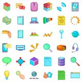 Organization of business icons set, cartoon style. Organization of business icons set. Cartoon style of 36 organization of business vector icons for web isolated Stock Image