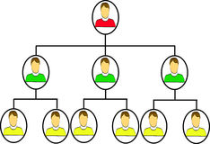 Organization chart. In a company Royalty Free Stock Image
