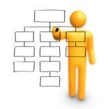 Organization Chart stock illustration