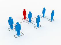 Organization Chart Structure and Positions Stock Images