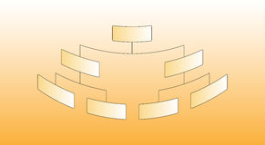 Organization Chart. Vector Illustration of Organizational Corporate Chart Royalty Free Stock Images