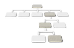 Organization Chart, Brushed Steel Royalty Free Stock Photos