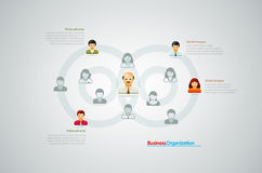 Organization Chart. Corporate organization chart with business people icons. Vector illustration Stock Illustration