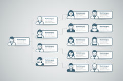 Organization Chart. Corporate organization chart with business people icons. Vector illustration Vector Illustration
