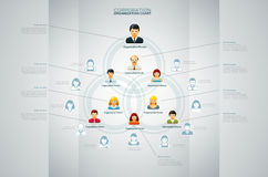 Organization Chart. Corporate organization chart with business people icons. Vector illustration Royalty Free Stock Images