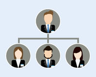 Organization chart icon. Business design. Vector graphic Royalty Free Stock Image