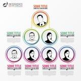 Organization chart infographics design. Infographics. Vector. Illustration Royalty Free Illustration