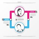 Organization chart. infographics design template. Vector Stock Photos