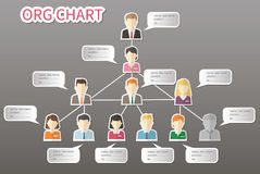 Organization Chart Infographics, People Icon Stock Images