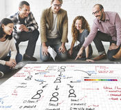 Organization Chart Management Planning Concept royalty free stock photography