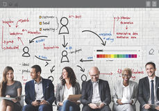 Organization Chart Management Planning Concept Royalty Free Stock Images