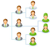 Organization chart Stock Images