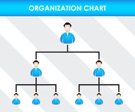 Organization chart template Stock Photo