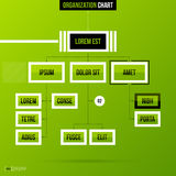 Organization chart template on fresh green background Stock Images