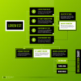 Organization chart template on fresh green background Stock Photos