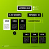 Organization chart template on fresh green background Royalty Free Stock Photo