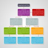 Organization chart template. Stock Photography