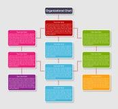 Organization chart template. Vector illustration Royalty Free Stock Photos