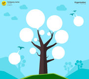 Organization chart tree concept. Vector illustration Royalty Free Stock Photo