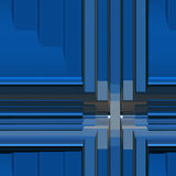 Organization concept. Disorganized beams and colours in blue Royalty Free Stock Photo