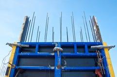 The organization of concrete work. royalty free stock photo