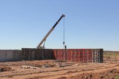 The organization of concrete work. stock photo