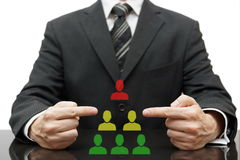 Organization with difficult boss, bad middle management Royalty Free Stock Photography