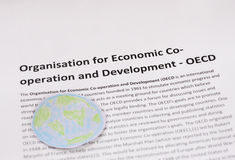Organization for Economic Co-operation and Development  OECD. Pic Royalty Free Stock Photos