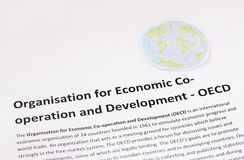 Organization for Economic Co-operation and Development. OECD. Stock Images