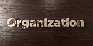 Organization - grungy wooden headline on Maple - 3D rendered royalty free stock image. This image can be used for an online website banner ad or a print vector illustration