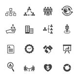 Organization icons Stock Image