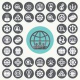 Organization icons set. Illustration eps10 Stock Photography