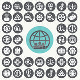 Organization icons set. Stock Photography