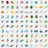 100 organization icons set, isometric 3d style Stock Photo