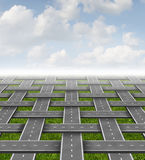 Organization Management. Business concept with a group of roads and highways organized in a three dimensional grid pattern as a symbol of planning a strategy Stock Photos