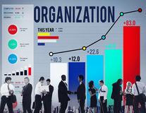 Organization Management Corporate Collaboration Team Concept Royalty Free Stock Photos
