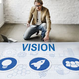 Organization Solution Start Business Vision Concept. Organization Solution Start Vision Concept Royalty Free Stock Photography