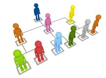 Organization Structure stock illustration