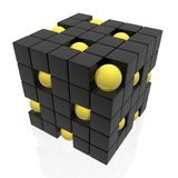 Organization structure. (black yellow 3D series Royalty Free Stock Image