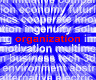 Organization Word Shows Institution Royalty Free Stock Photography