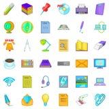 Organization of work icons set, cartoon style. Organization of work icons set. Cartoon set of 36 organization of work vector icons for web isolated on white Royalty Free Stock Image