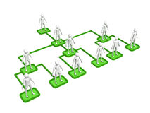 Organizational chart. Computer Rendered Graphic of a concept for corporate organization Stock Images