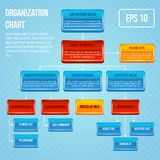 Organizational chart 3d concept Stock Images