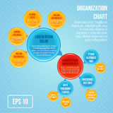 Organizational chart infographic Stock Photography