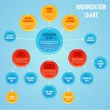 Organizational chart infographic Stock Image
