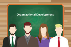 Organizational development program illustrated in vector picture Royalty Free Stock Image