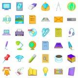Organizational management icons set, cartoon style. Organizational management icons set. Cartoon set of 36 organizational management vector icons for web Royalty Free Stock Photo