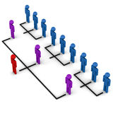 Organizational structure Stock Photo
